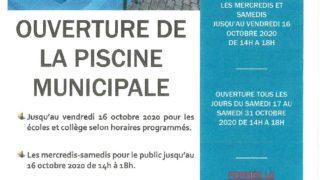 FONCTIONNEMENT DE LA PISCINE