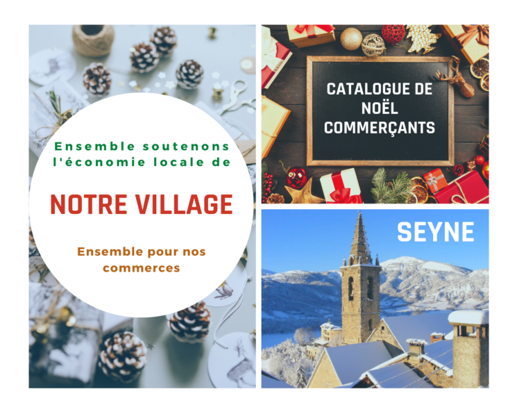 Catalogue de Noël commerçants de Seyne