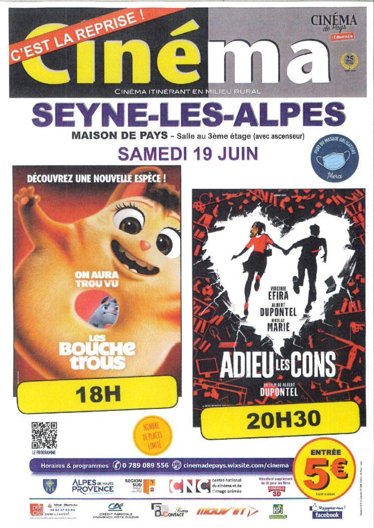 Cinéma de Pays le 19 juin 2021