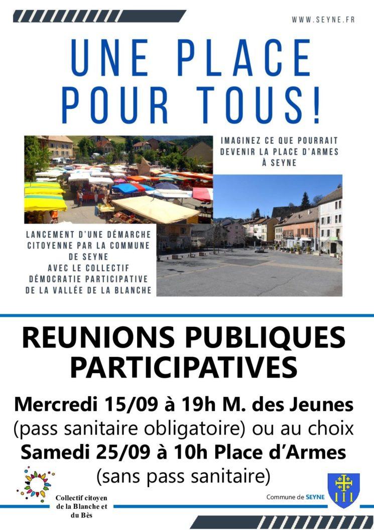 Démarche participative Place d'Armes : réunions publiques